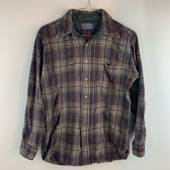 d40ff54f7 Pendleton Shirts | Woolen Mills Vintage Plaid Lodge Shirt | Poshmark